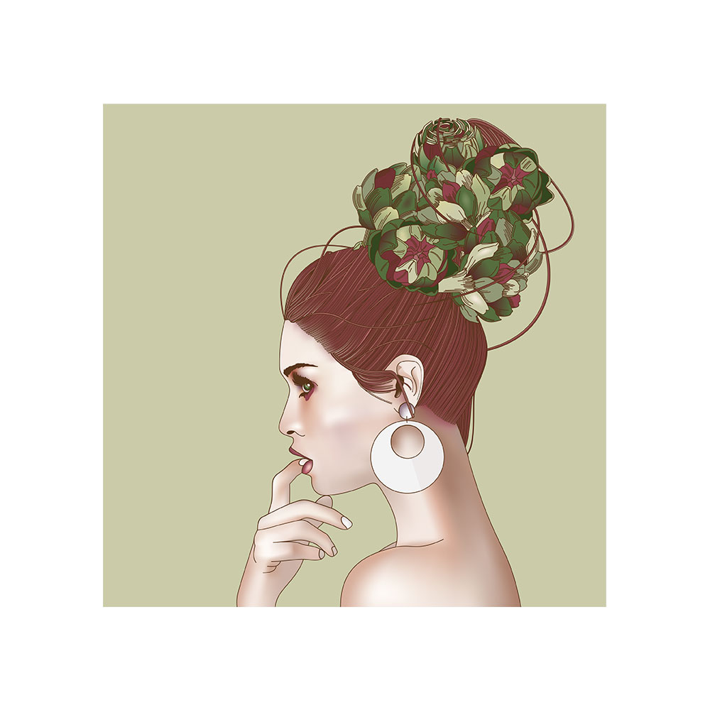 TELA CANVAS - woman with artichokes