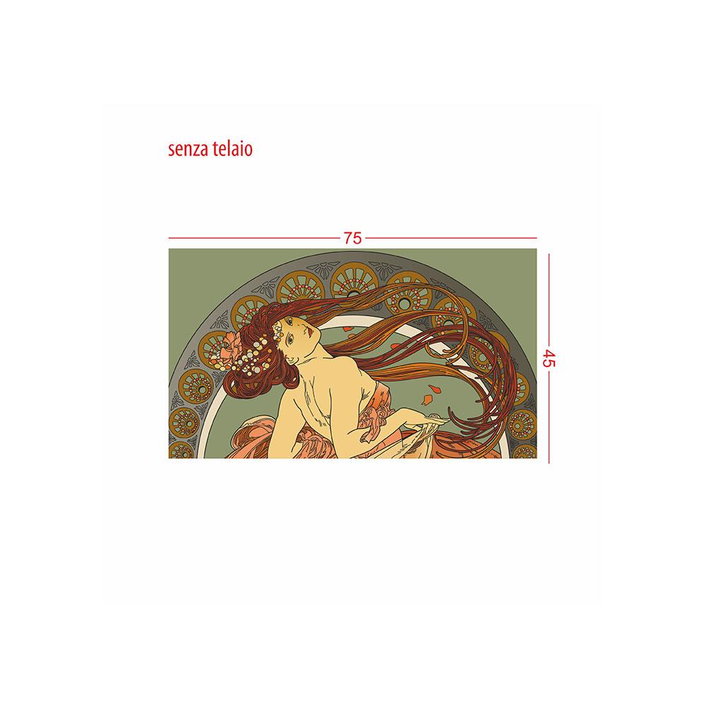 TELA CANVAS - Rivisitazione - Alphonse Mucha 'dance'