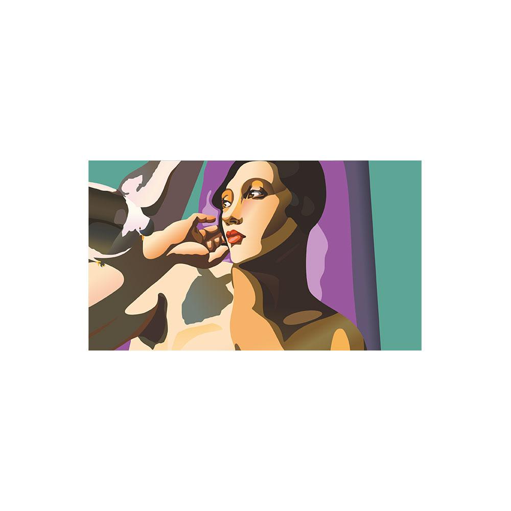 TELA CANVAS -Tamara de Lempicka 'Nude with Dove'