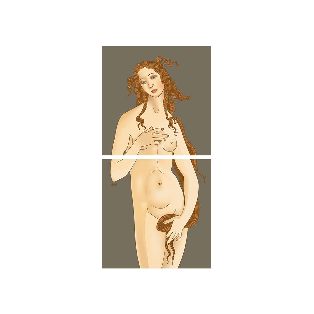 TELA CANVAS - rivisitazione - Botticelli 'venere'